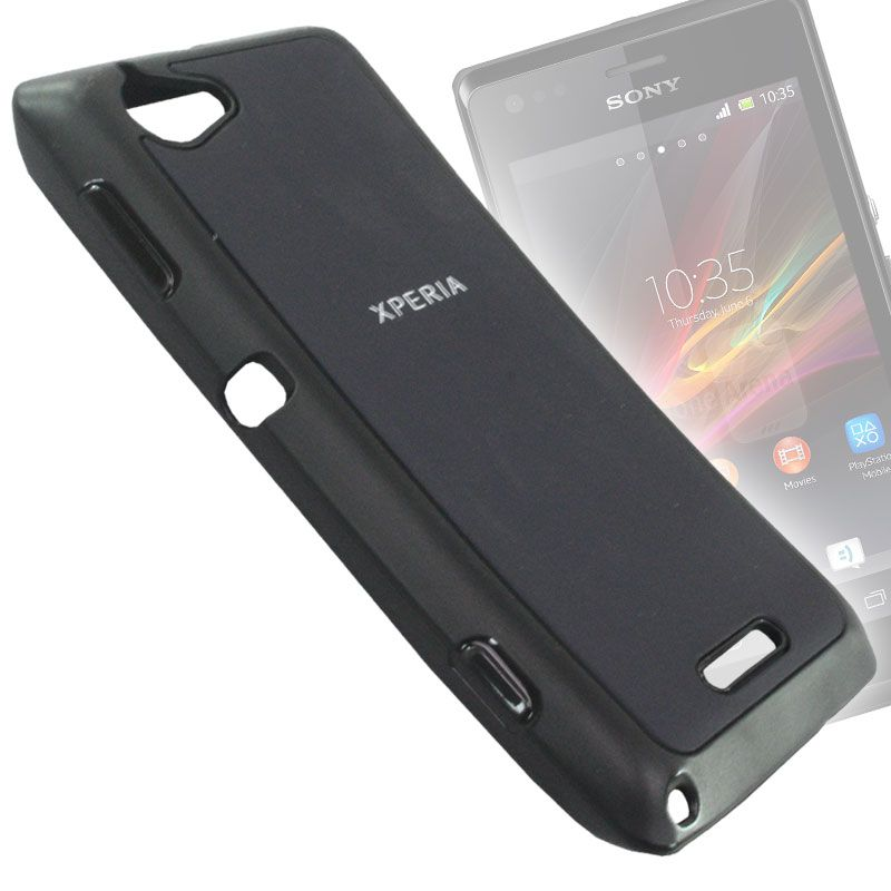 new arrival 5082d a57f7 Rubberized Soft Back Case Cover Pouch For Sony Xperia M - Bsn03