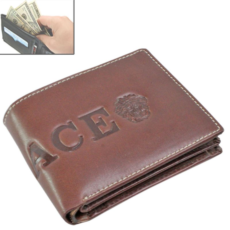 456ec112a635 Buy Mens Leather Wallet Credit Business Card Holder Case Money Bag Purse  -135 online