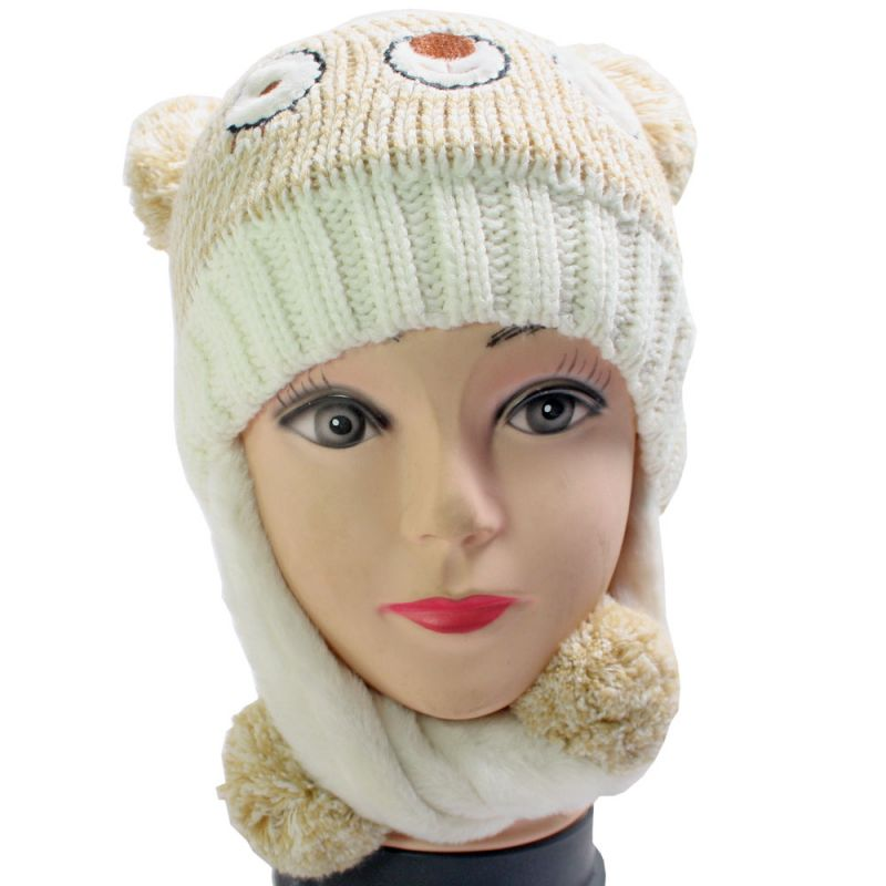 Buy Free Size Winter Acrylic Woolen Hat Cap for Women Ladies online