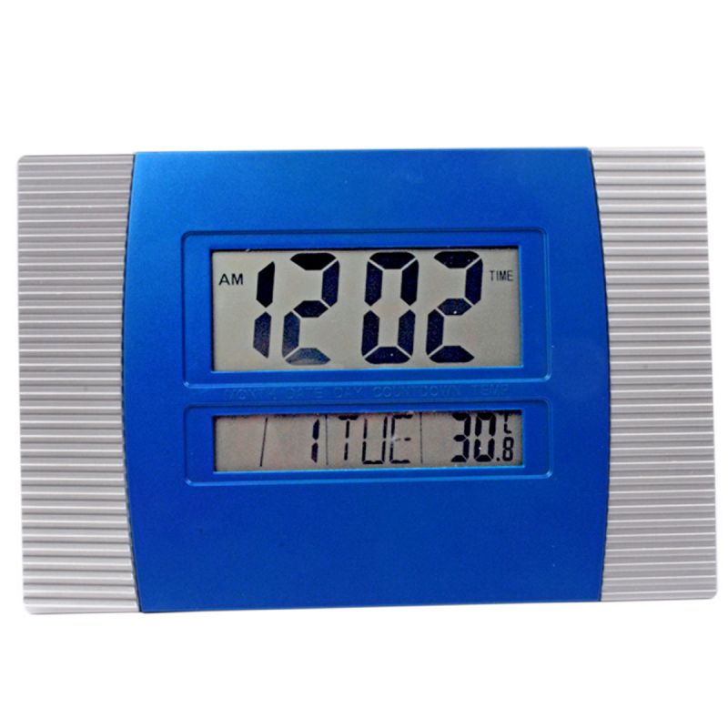 Buy Big Digital LCD Alarm Calendar Thermometer Table Desk Clock Timer Stopwatch online