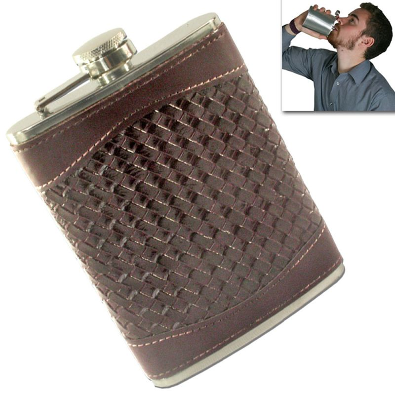 Buy 08 oz STAINLESS STEEL Drinks Hip Pocket Wine Flask Screw Cap online