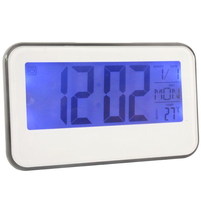Buy Voice Control Sound Sensor Calendar Alarm Table Clock Thermometer Timer online