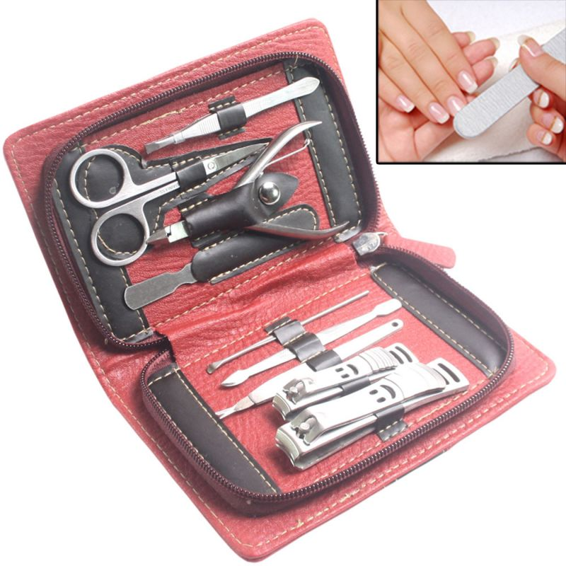 Buy 9in1 Nail Art Clipper Pedicure Manicure Tweezer Cutter Earpick Tool Set -21 online
