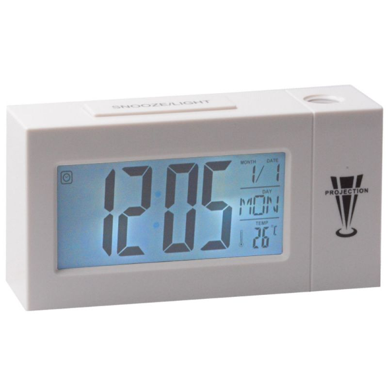 Buy Voice Control Sound Sensor Calendar Alarm Table Clock Thermometer Timer - 305 online