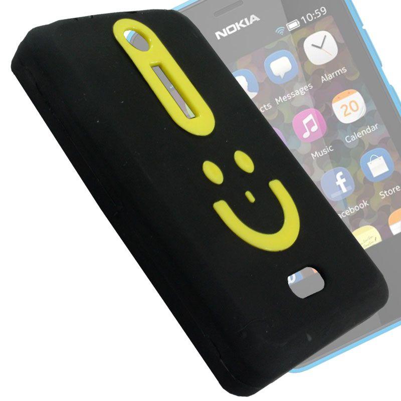 the best attitude 2a37b 0de51 Rubberized Soft Back Case Pouch For Nokia Asha 501 - Bn03