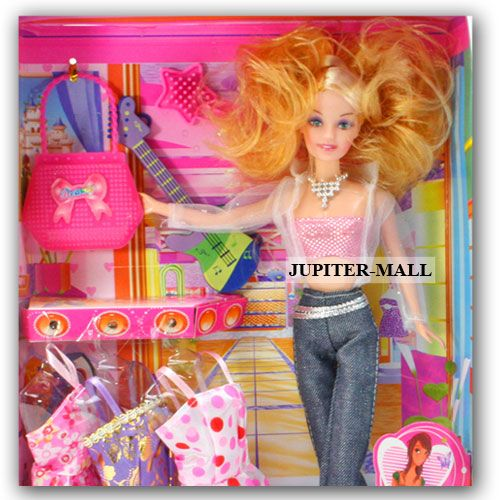 Buy Barbie Doll Set With Beautiful Trendy Dresses Kids Toys Toy Baby Gift -68 online