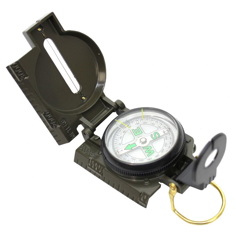 Buy 3 in 1 Metal Military Hiking Camping Lens Lensatic Magnetic Compass online