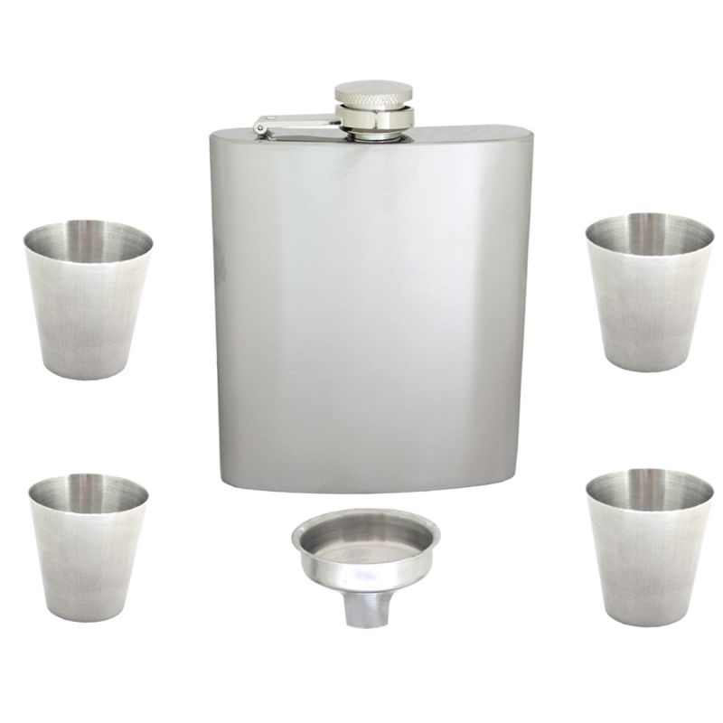 Buy 9oz 270ml Pocket Stainless Steel Hip Flask Bottle Liquor Drink Ware (code - HP Fl 83 A) online