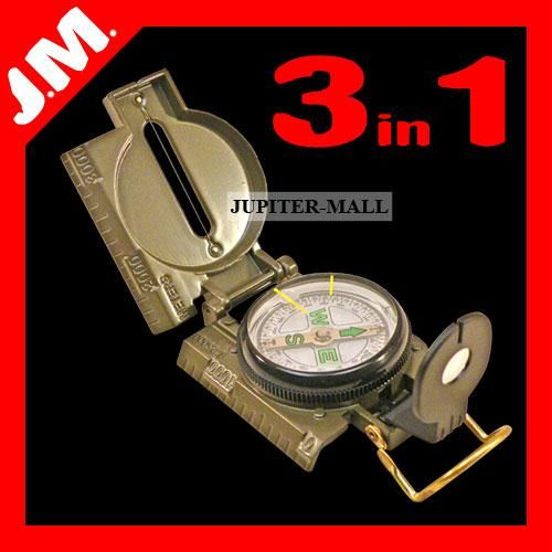 Buy 3in1 Military Hiking Camping Lens Lensatic Compass online