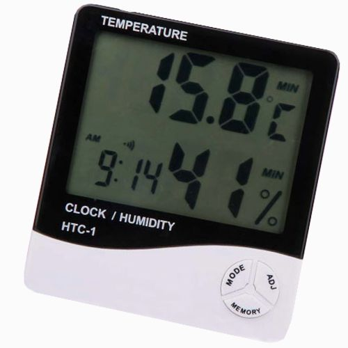 Buy Digital Temperature Humidity Hygrometer Thermometer Alarm Table Desk Clock online