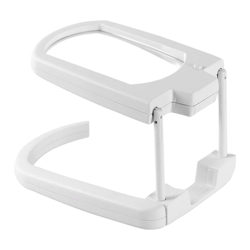 Buy 2 LED Hand Free Magnifier Magnifying Glass Microscope 3X 4-Function 8X5CM online
