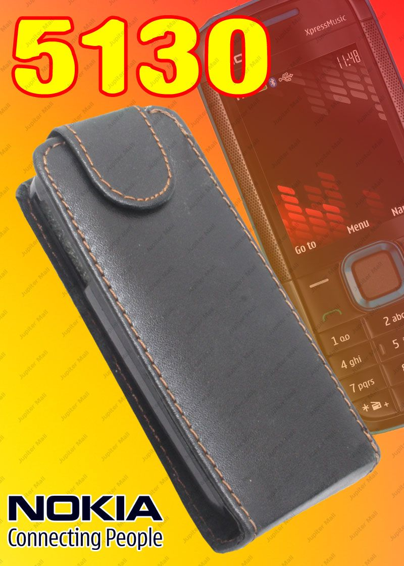 competitive price e420a e2287 Black Nokia 5130 Xpressmusic Leather Back Case Cover Skin Flip Pouch - N21