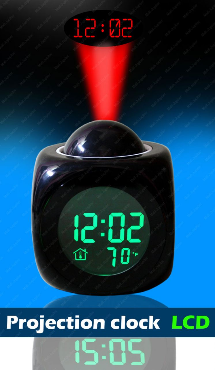 Buy Talking Laser Projector Projection Alarm Table Clock Thermometer 50