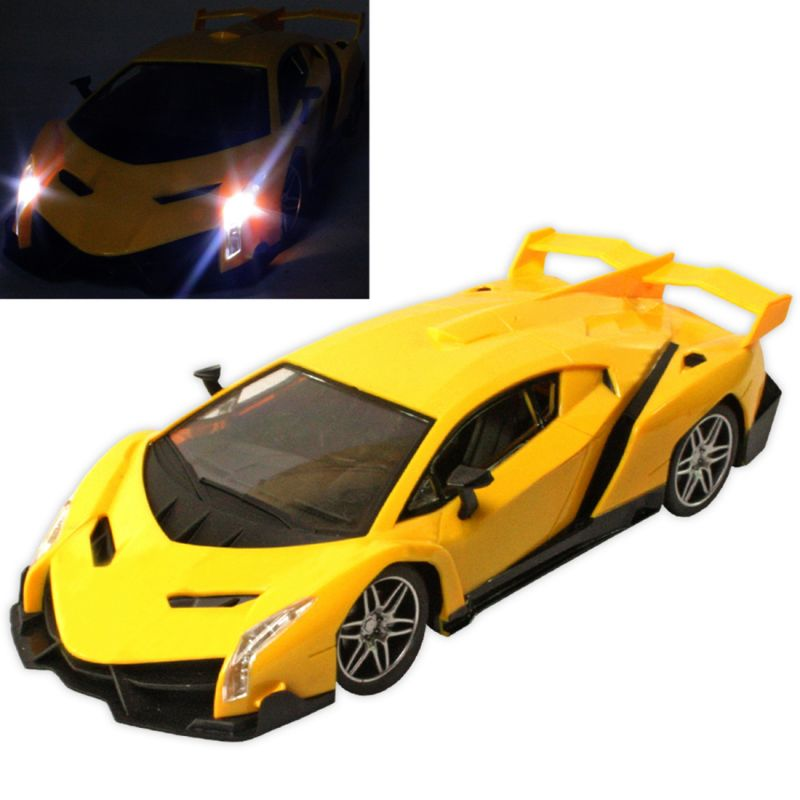 Buy Big Rechargeable 30cm Gravity Induction RC Racing Car Kids Toy Remote Yellow online