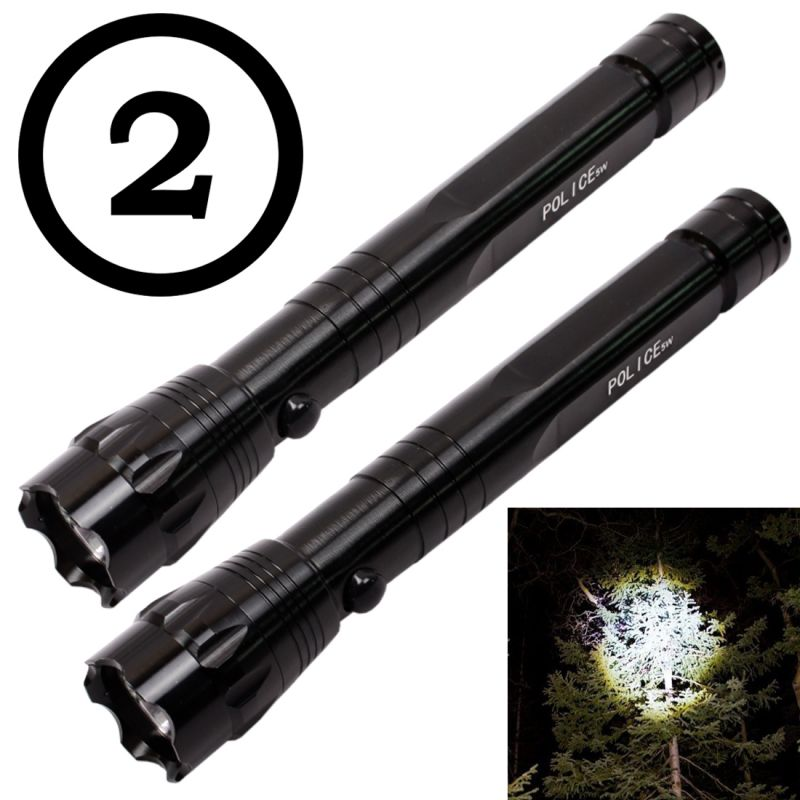 Buy 2 Pieces 5w Mini Battery Operated Waterproof LED Torch Lamp Flashlight Light (code - Jm Tr Ch 12) online