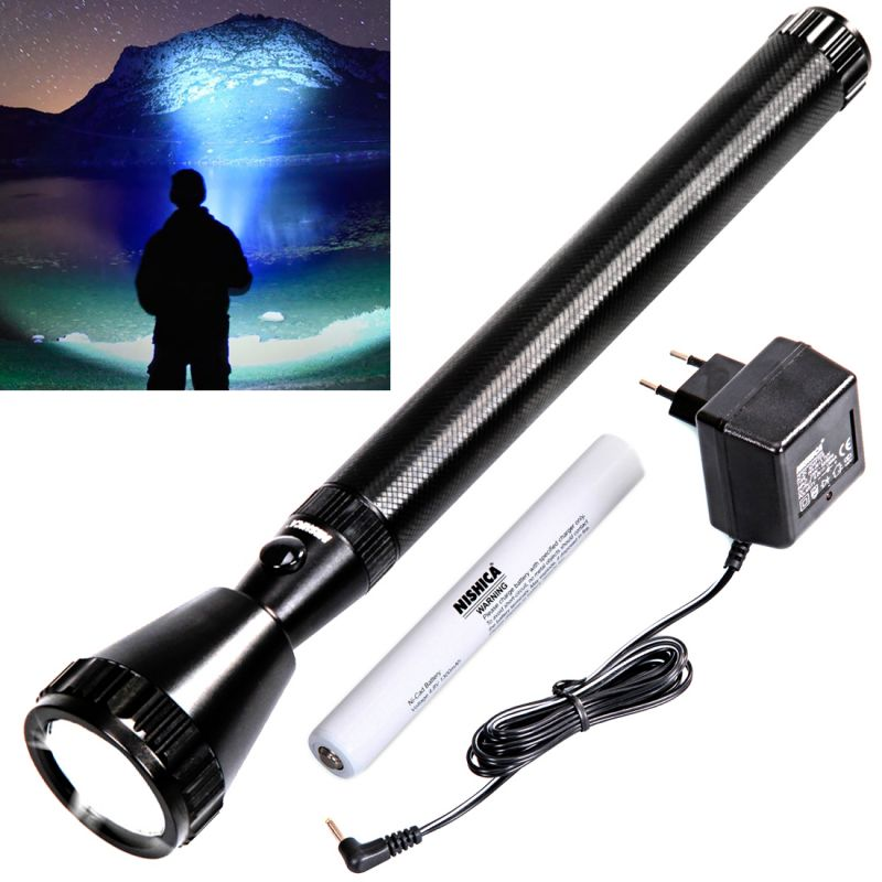 Buy Rechargeable 1000m Beam Shot LED Waterproof Nishica Light Torch Flashlight (code - Jm Tr Ch 55) online