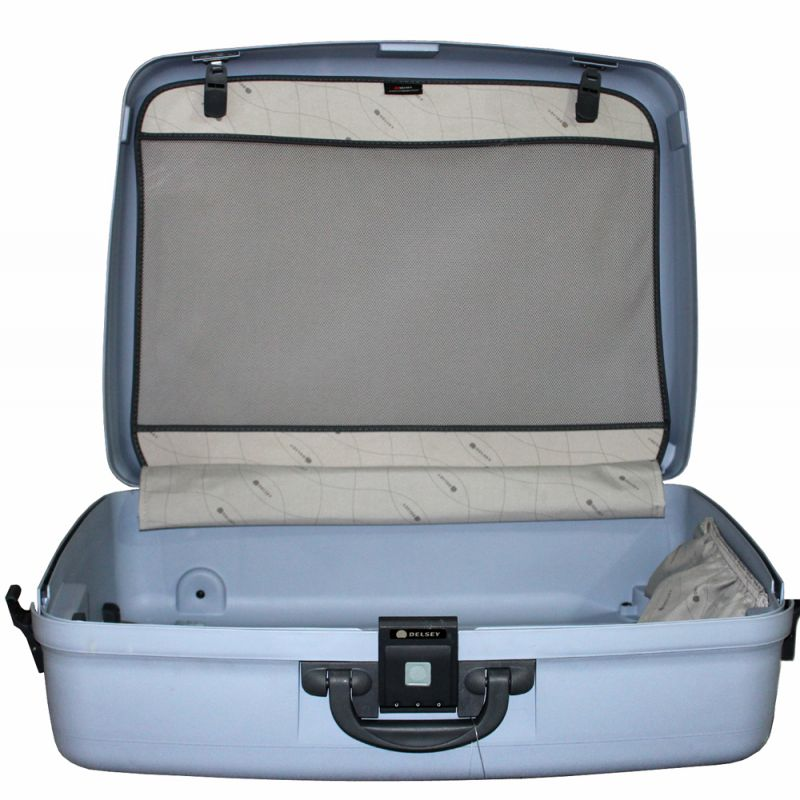 Buy Delsey 4 Wheel Dual Drive Suitcase 78 Cms Delsey Trolley ...