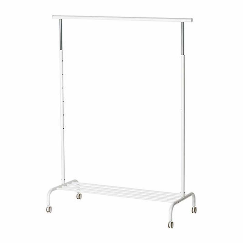 Buy Ikea Rigga Clothes Rack, Single Pole Telescopic Clothes Rack Clothes Dryer-white online