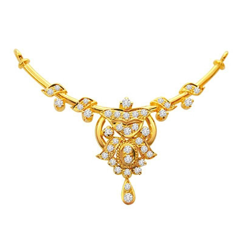 Buy Surat Diamond 0.54 Cts Diamond Necklace Pendant Dn18 online