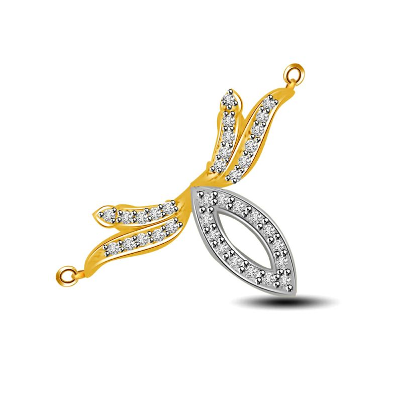 Buy Surat Diamond You Are My Passion Two Tone Diamond Pendant Dn272 online
