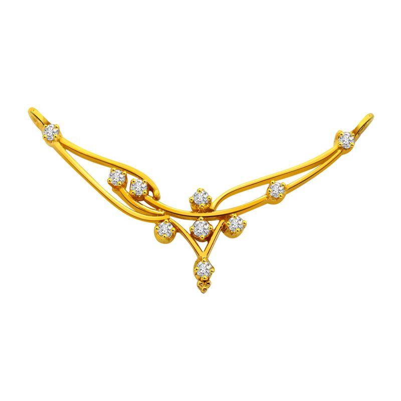 Buy Surat Diamond A Simple Diamond & Gold Necklace Pendant Dn65 ...