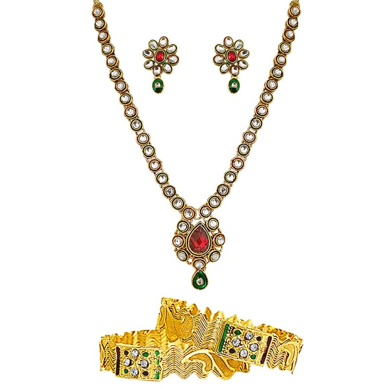 Buy Surat Diamond Traditional Set & Bangles Hamper Hamper-1500 online