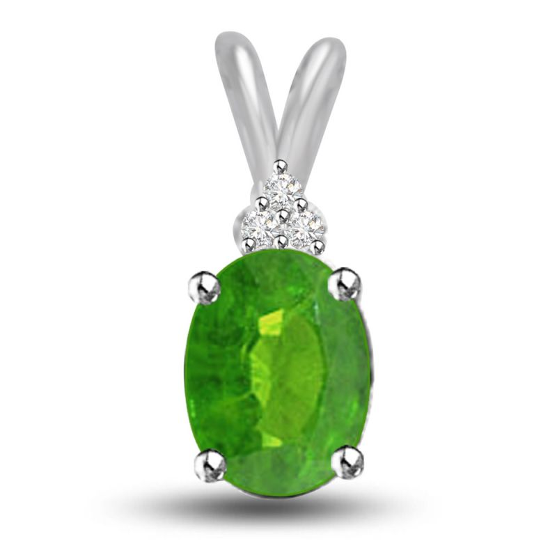 Buy Surat Diamond Glittering Galaxy 1.05 Tcw Emerald And Diamond Pendant P1165 online