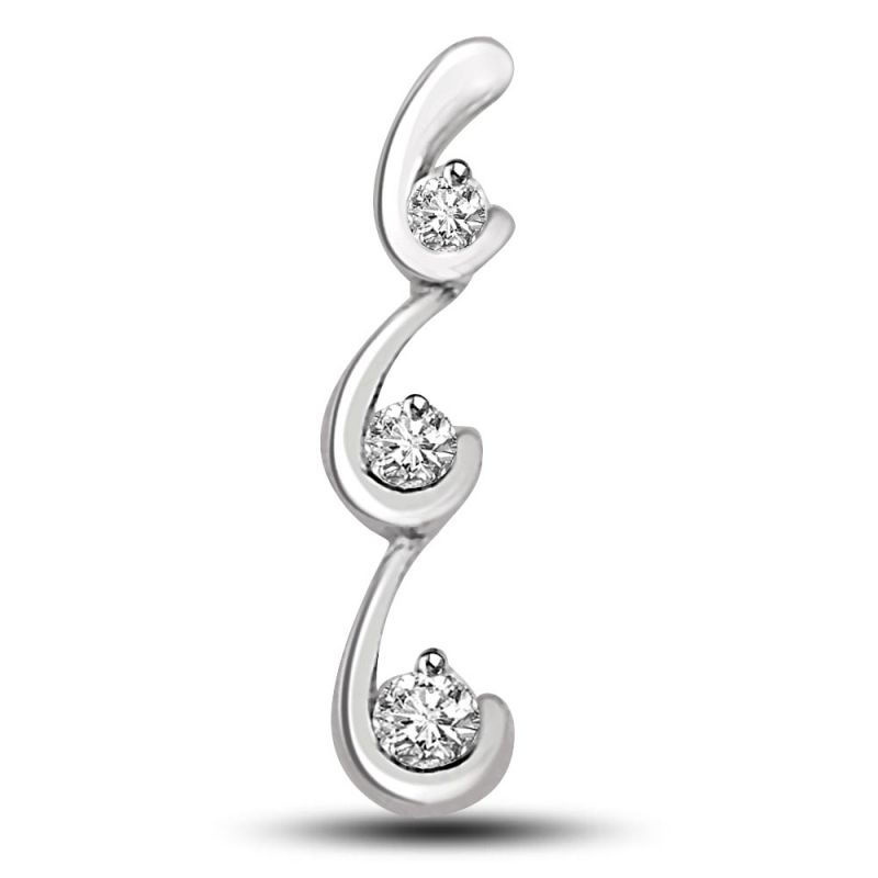 Buy Surat Diamond Cascading Love Pendant P1247 online