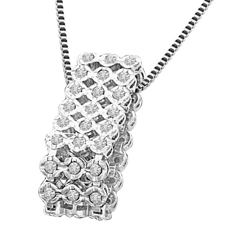 Buy Surat Diamond Bouquet Of Diamonds 0.36ct White Gold Diamond In A Sieve Beautiful New Design Pendant For Her P1344 online
