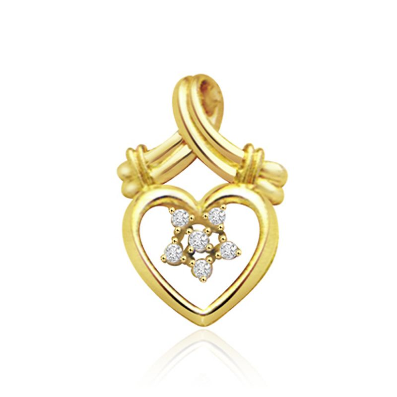 Buy Surat Diamond Classy Heart-throbe 0.12ct Diamond Pendant P463 online