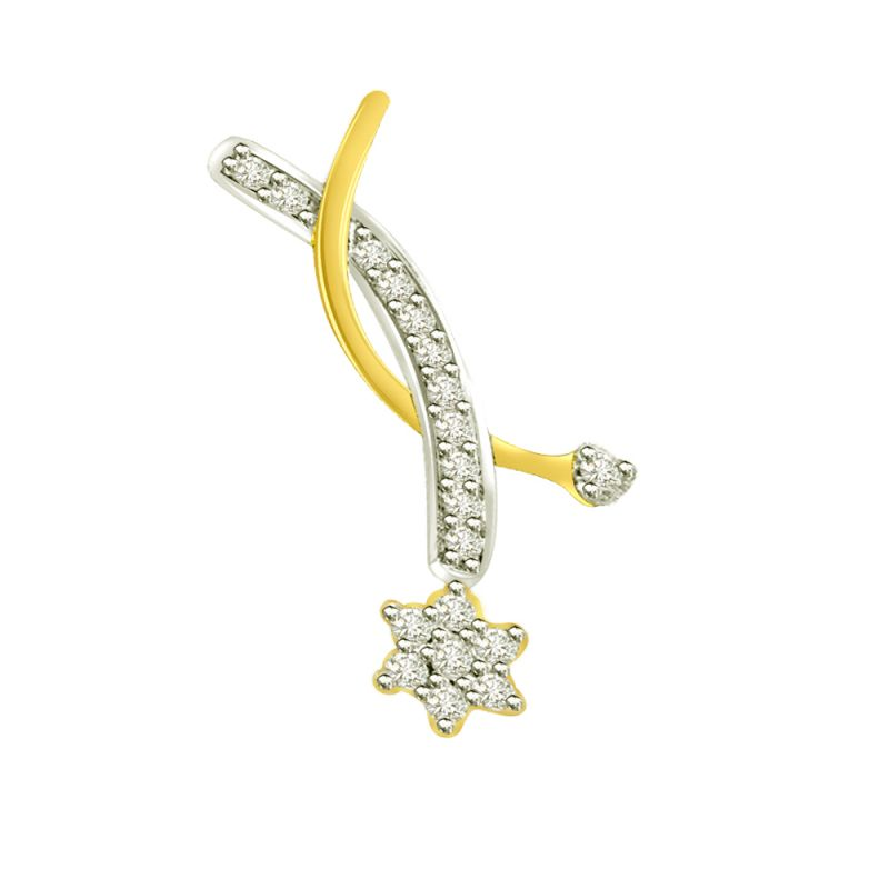 Buy Surat Diamond 0.25 Cts Flower Diamond 18k Pendant P648 online