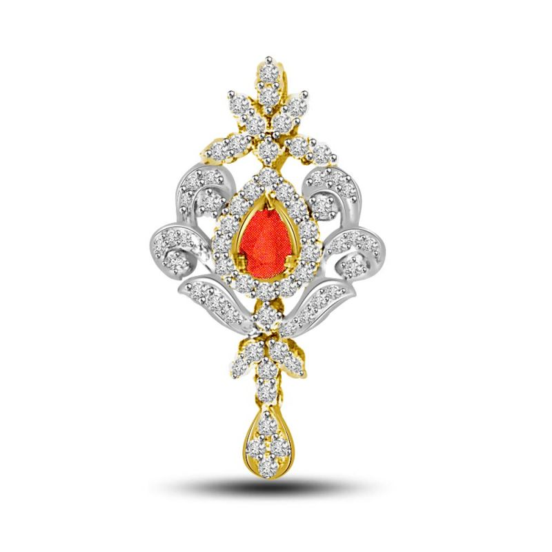 Buy Diamond & Ruby Gold Pendant P731 online