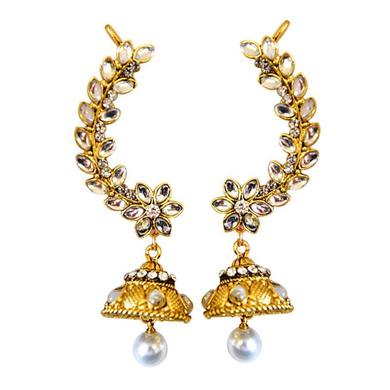 Buy Surat Diamond Dangling Queen Ear Cuffs Pse79 online