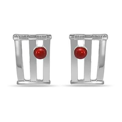 Buy World Cup Cricket Stamps & Ball Cufflinks In Silver online
