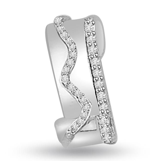 Buy Surat Diamond 0.15 Cts 14k White Gold Designer Diamond Pendant - P689 online