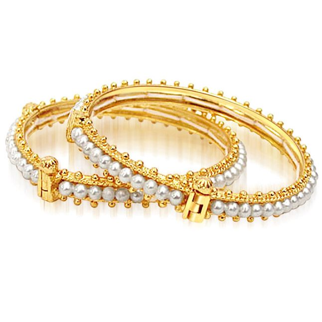 Buy Surat Diamond Pearl Bed Of Roses Bangles Bgp6 online