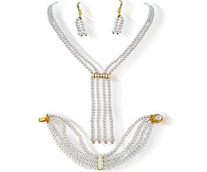 Buy Surat Diamond Contemporary Shell Pearl Set Ps81 online