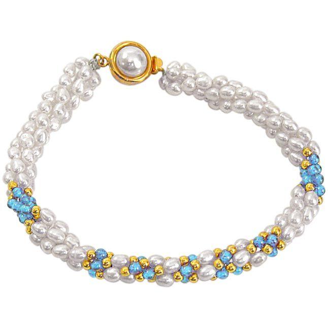 Buy Surat Diamond Pearl Brilliant Bracelet Sb15 online