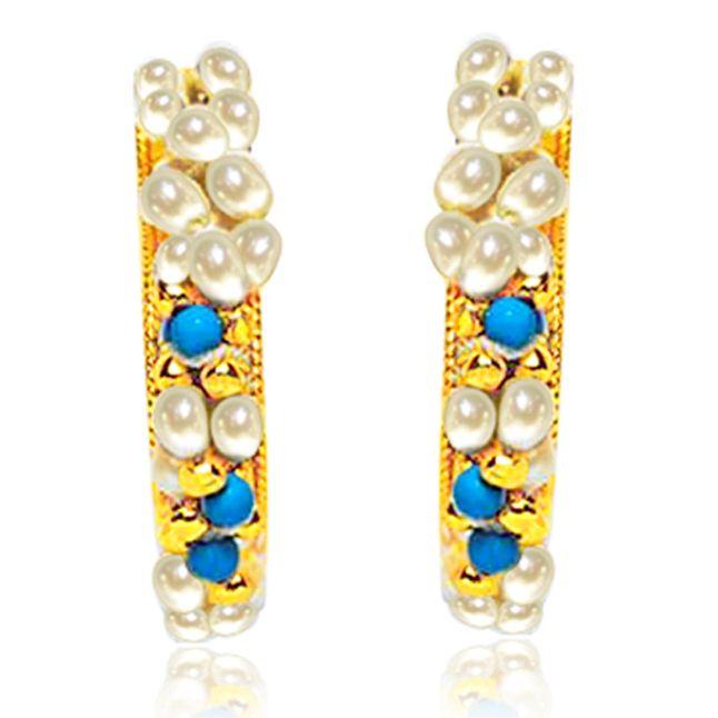 Buy Surat Diamond Pearl Rapturous Ravishing Earrings Se15 online