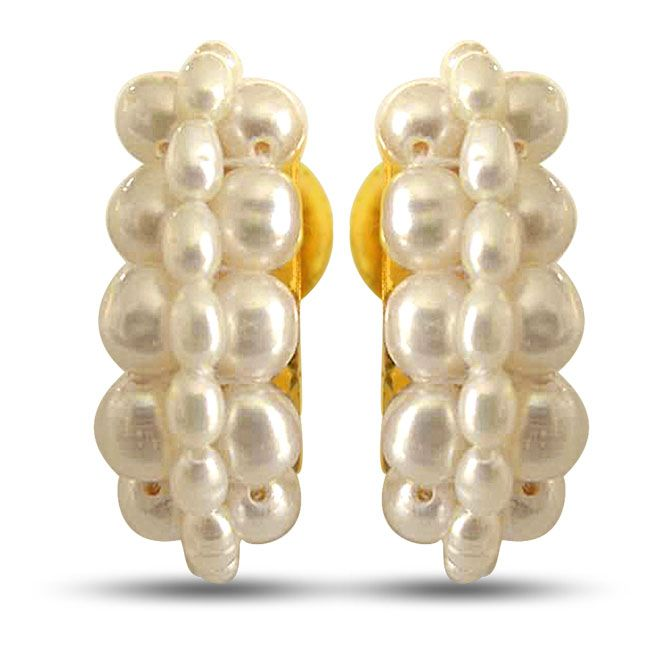Buy Surat Diamond Let's Fall In Love Pearl Earrings Se24 online