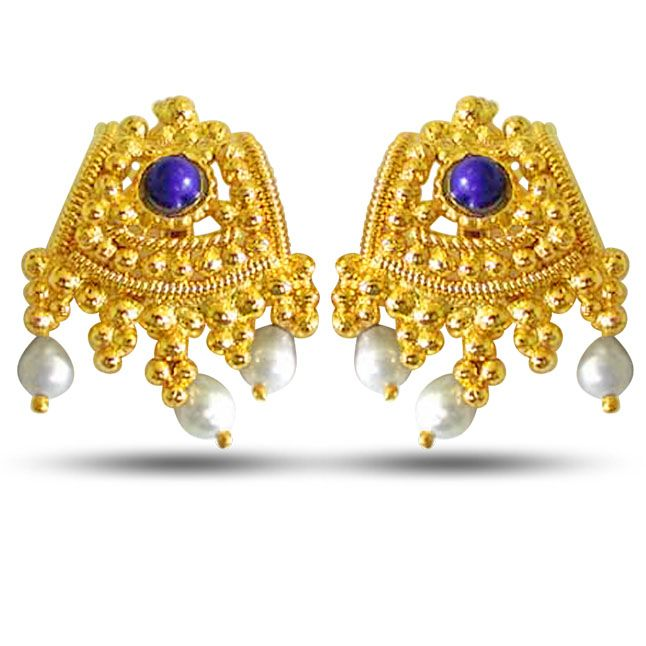 Buy Surat Diamond Pearl Classic Ethnic Earrings Se51a online