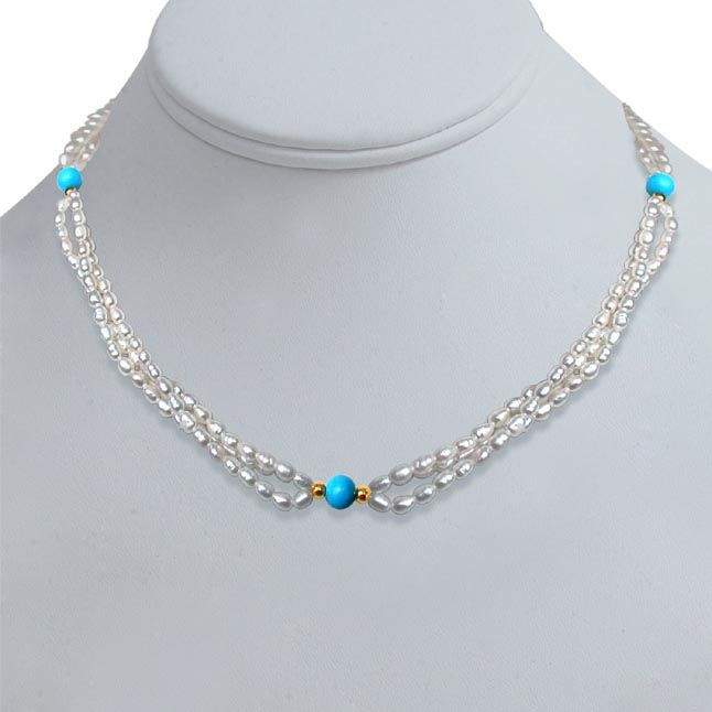 Buy Surat Diamond Pearl Kindle Necklace Sn199a online