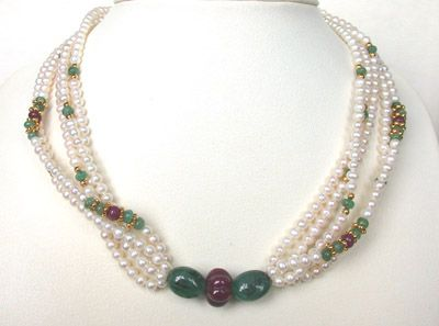 Buy Surat Diamond Pearl Pure Pristine Pleasure Necklace Sn220 online