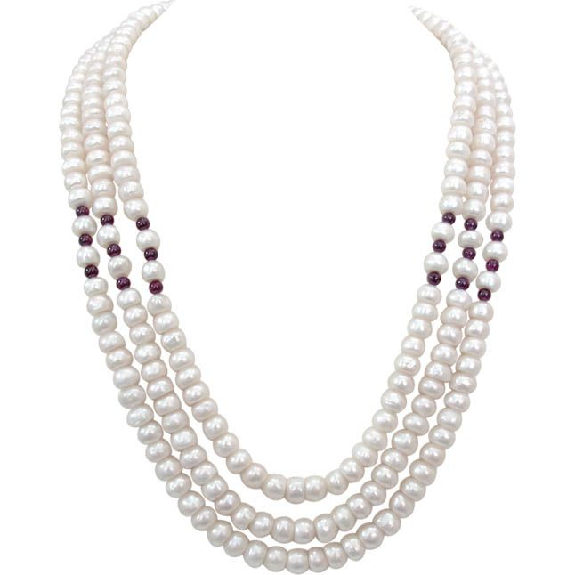 Buy Surat Diamond Pearl Candy Floss Necklace Sn249 online