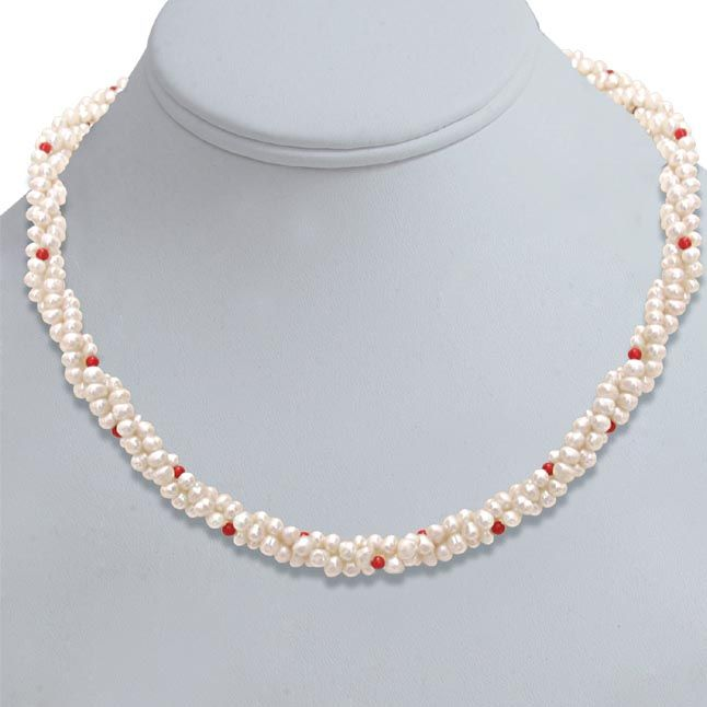 Buy Surat Diamond Pearl Coral Bead Beauty Necklace Sn303 online