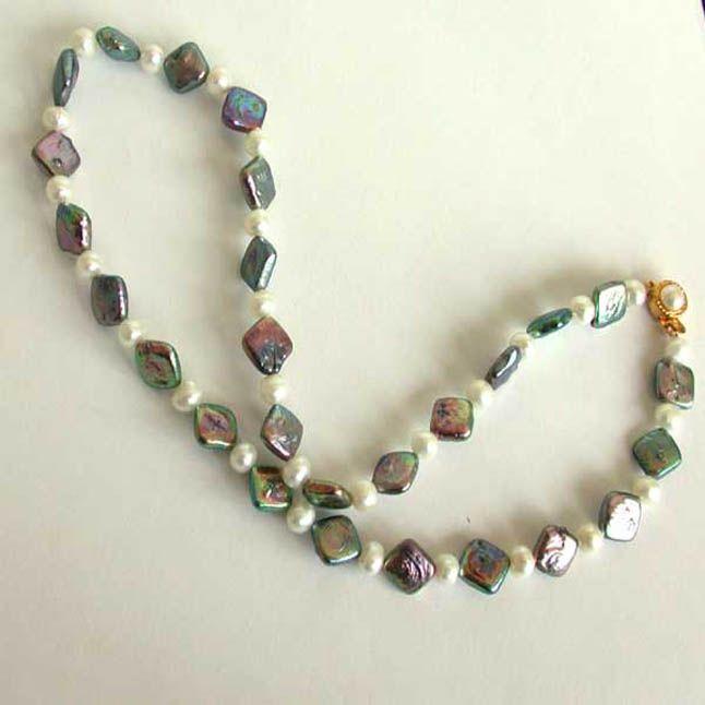 Buy Surat Diamond Single Line Pearl Necklace Necklace Sn36 online