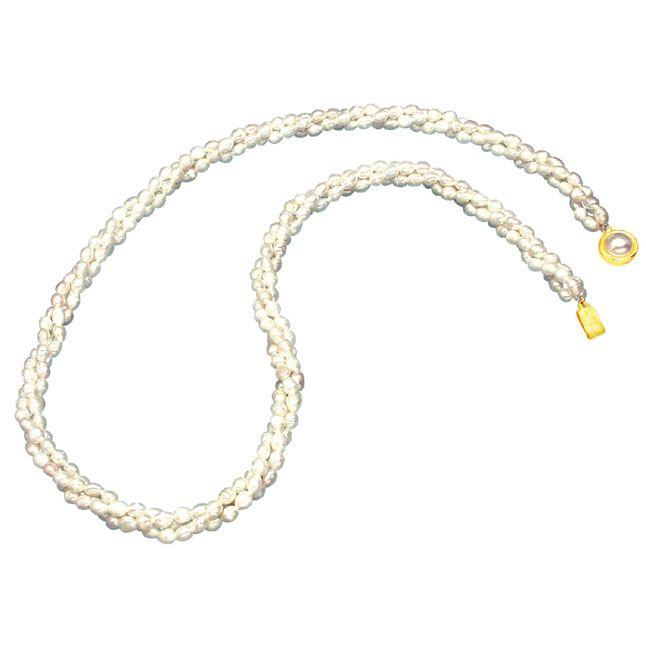 Buy Surat Diamond Pearl Scintillation Necklace Sp101 online