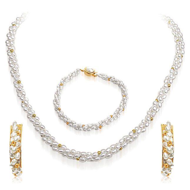 Buy Surat Diamond Pearl White Wonder Necklace Sp82 online