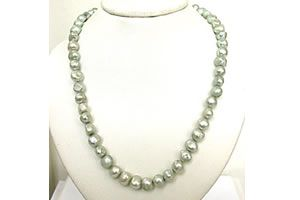 Buy Surat Diamond - Green Dyed Potato Shaped Pearl Necklace - Sn456 online