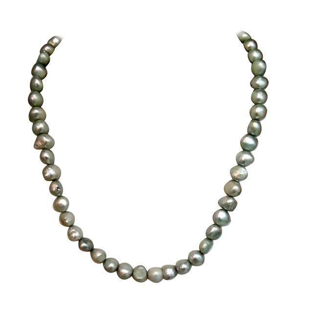 Buy Surat Diamond - Real Green Coloured Single Line Necklace - Sn622 online